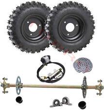 "Go Kart Cart Rear Axle Kit, 7/8"" x 30"" Axle 4.10-6 Wheels , Brake Disc Caliper"
