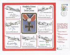 DM19c Knights Cross of the Iron Cross Signed by 7 Knights Cross Holders.