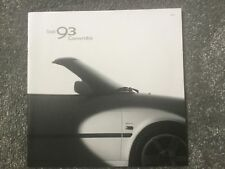 Saab 93 Convertible brochure 2003 in mint condition