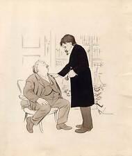 Medizin - Arzt - Doktor - Karikatur - orig. Zeichnung-Eugen Kirchner 1917