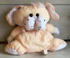 "A62 Vintage Superior Novelty Puffalump Peach Bunny Plush! 12"" Lovey Stuffed Toy"