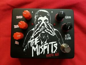 MISFITS Static Age Collectible Guitar Pedal Black Fiend Edition! RARE SN 140/122