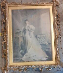 Victorian Wedding Bride 13x17 inch frame PLEASE READ