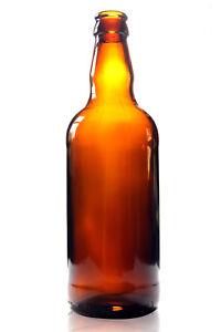 500ml  GLASS BEER / CIDER BOTTLES FOR HOMEBREW - BROWN - NEW -