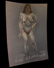 [EROTISME NU FEMININ] Grand dessin figurant une femme dénudée.