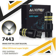 2X T20 7443 W21/5W 48LED Flash strobe CAR BRAKE STOP TAIL LIGHT BULB 12V WHITE