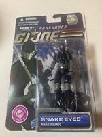 2011 GI Joe Renegades Snake Eyes Ninja Commando Action Figure