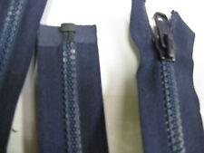 No 8 plastic teeth Open End zip Dark BLUE 37cm