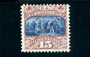 USAstamps Unused VF-XF US 1869 Pictorial Issue Columbus Scott 119 NG Grilled