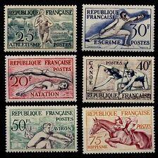 JEUX OLYMPIQUES de 1954, Neufs ** = Cote 90 € / Lot Timbres France 960 à 965
