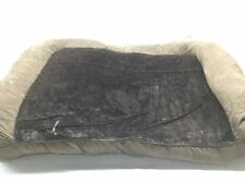 Furhaven Pet Dog Bed - Ultra Plush Faux Fur and Suede Pillow Cushion Traditional