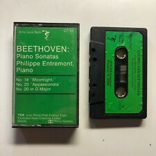Beethoven Piano Sonatas Philippe Entremont Moonlight Cassette Tape FREE SHIPPING