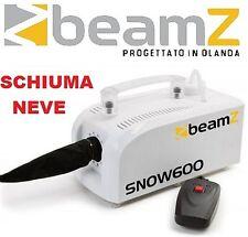 MACCHINA SCHIUMA NEVE SNOW 600W CON TELECOMANDO EFFETTO LUCE DISCOTECA PARTY