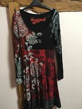 Desigual Scoop Neck Jersey Dress Size M BNWOT