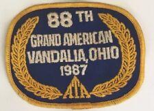 ATA 88th Grand American Vandalia Ohio 1987 patch 3 X 3-3/4 #2961