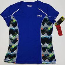 Fila Mens Shirt 400 Surf Athletic Moisture Wicking Running Stretch Glow in Dark
