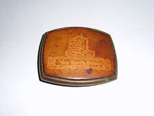 """El Cid Leather Belt Buckle """" The Earth Stove """" Logo Beltbuckle Vintage Antique"""