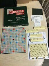 Vintage Scrabble Deluxe & Turntable Board 4 Easy Score Letter Racks board game