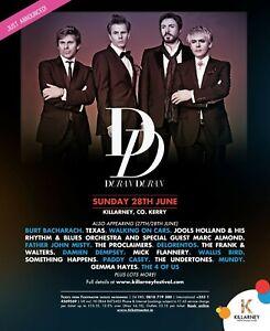 DURAN DURAN 2015 IRELAND CONCERT TOUR POSTER-New Wave, Synthpop,Dance-rock Music