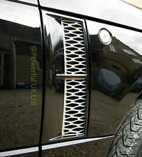 Gloss Black+Silver Supercharged style side vents Range Rover L322 Vogue 2002-12