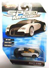 RARE ERROR Bugatti Veyron 2009 Hot Wheels Speed Machines B&W Car NO Windshield