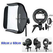 "Godox 60 x 60cm 24"" Soft Box Softbox+S Bracket for Canon Nikon YongNuo 580 Flash"