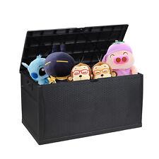 New listing Garden 120-Gallon Deck Box Outdoor Patio Rattan Box Container Storage Bin Bench