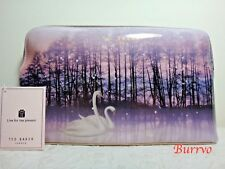 NWT Ted Baker London Conilia Sparking Swan Large Cosmetics Case, Straw