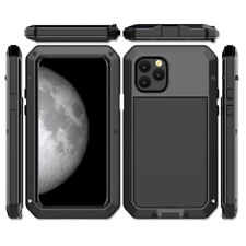 iPhone 11 Pro Max Case Cover Metal Bumper IP54 Waterproof Screen Protector Glass