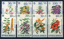 Indonesia 1965-1966 Mi. 499-506 MNH 100% Flowers (I-II)