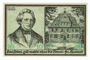 GERMANY BANKNOTE 10 MARK STADT-HASPE 1918 UNC