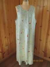 TALBOTS WOMAN dress jumper size 16W 100% linen floral MADE IN THE USA