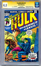 INCREDIBLE HULK #182 CGC-SS 4.5 *SIGNED HERB TRIMPE* WOLVERINE CO-CREATOR 1974