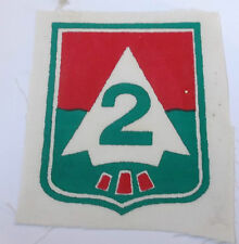 original vietnam american war vintage 2nd  infantry division printed cloth patch