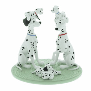DISNEY 101 DALMATIANS ONE BIG HAPPY FAMILY FIGURINE  WIDDOP AND CO GIFT BOXED