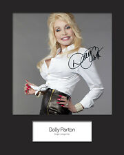 DOLLY PARTON #1 Signed Photo Print 10x8 Mounted Photo Print - FREE DELIVERY