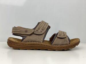 Josef Seibel Raul Mens Brown Leather Sandal UK Size 10
