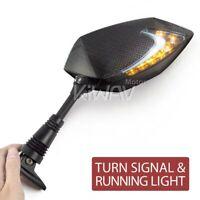 Lucifer Led Mirrors Carbon Day Light Indicator for Honda VFR 800 02-09