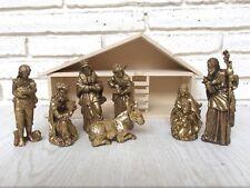 7 Piece Nativity Set Rustic Gold Seasonal Christmas Holiday Decor