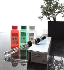 pH-Sensor/Elektrode, Kunststoffschaft + KCL 3mol + pH4/pH7 Pufferlösung
