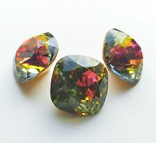 1 Rare Vintage Swarovski 4471 20mm Vitrail Medium GF Cushion Cut Square Stone