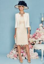 champagne Lace Mother of the Bride Dresses with Jacket Women Outfits for Wedding