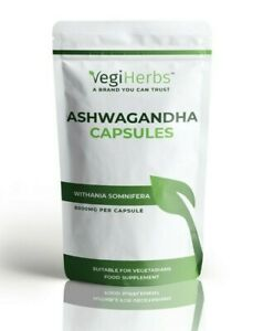 Ashwagandha Capsules 8000mg - 30 Capsules Stress Fatigue Anxiety Relief Vegan