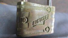 Vintage Old BICYCLE Brass Bicycle Padlock Bike Lock Schwinn Raleigh AMC Premier