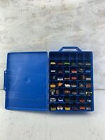Mattel Hot Wheels 48 Car Carry Case Lot With 42 Cars Matchbox Others Some VTG!!