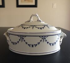 Villeroy & Boch Vieux Luxembourg Mini Oval Tureen & Lid White with Blue Motive