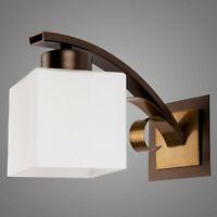 Moderne Wandlampe ATRATO / Design Wandleuchte / Braun und Gold Farbversion