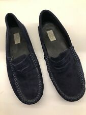 Papouelli Boys 'Felix' Midnight Blue Suede Mocassin Shoes Size 36