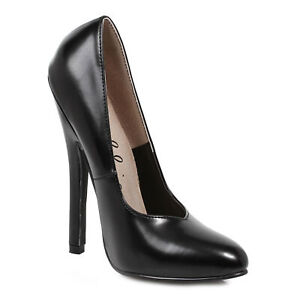 "Ellie 8260 Black 6"" Heel Fetish Pump"