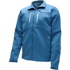 under armour storm mens infrared coldgear softershell jacket blue steel small